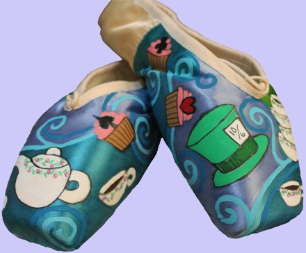 Mad Hatter's Pointe Shoe